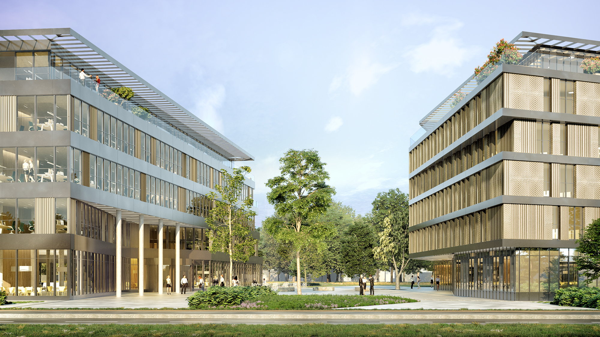 Campus Les Cyclades Guyancourt Fiducim ORY architecture